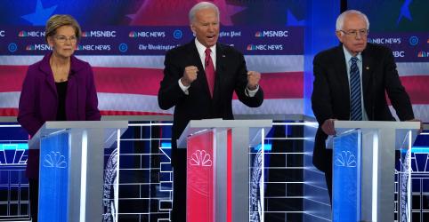 Placeholder - loading - Pré-candidatos democratas concordam sobre impeachment e divergem sobre saúde e impostos em debate