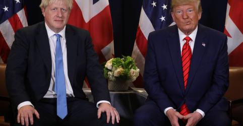 Placeholder - loading - Johnson implora a Trump que não se envolva na eleição britânica