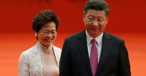 Placeholder - loading - Presidente da China promete apoio a líder de Hong Kong durante período 'mais difícil'