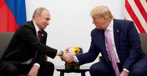 Placeholder - loading - Trump e Putin discutem ataque frustrado na Rússia, controle de armas e relações, diz Casa Branca