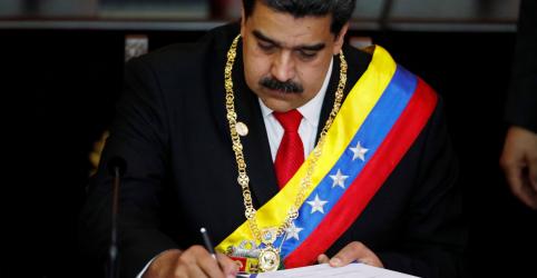 """Placeholder - loading - Imagem da notícia Maduro assume segundo mandato na Venezuela, EUA denunciam """"usurpação"""" de poder"""
