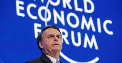 Em Davos, Bolsonaro diz confiar que seu governo terá respaldo do Congresso