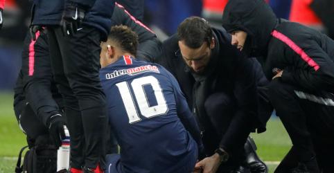Neymar se machuca em vitória do PSG na Copa da França