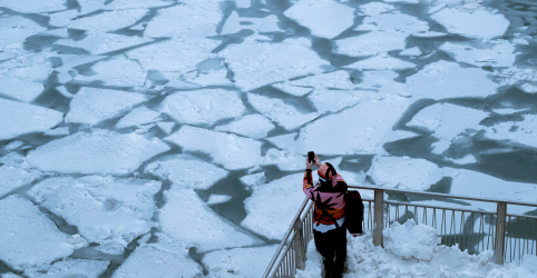 Vórtice polar leva neve e frio intenso ao Meio-Oeste dos EUA