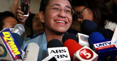 Jornalista das Filipinas é solta sob fiança após prisão gerar revolta