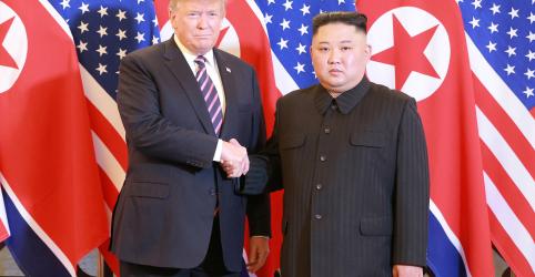 Placeholder - loading - Imagem da notícia Malogro de cúpula põe em dúvida futuro de diplomacia nuclear entre EUA e Coreia do Norte