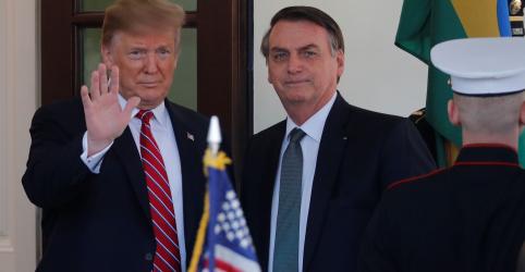 Placeholder - loading - Imagem da notícia Trump quer uma América grande e eu quero um Brasil grande, diz Bolsonaro na Casa Branca