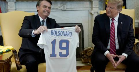 Placeholder - loading - Trump se reúne com Bolsonaro, diz não ter hostilidade com Brasil e fala sobre Otan e apoio na OCDE