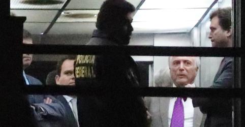 Placeholder - loading - Imagem da notícia Desembargador manda soltar Temer, Moreira, Coronel Lima e mais 5 presos
