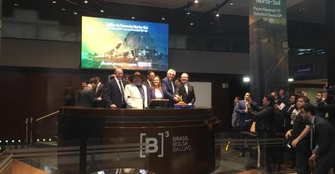 Rumo vence leilão da ferrovia Norte-Sul com oferta de R$2,7 bi; ágio atinge 101%