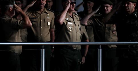 Placeholder - loading - Imagem da notícia Comando Militar do Planalto rememora 55 anos do golpe de 1964 como 'momento cívico-militar'
