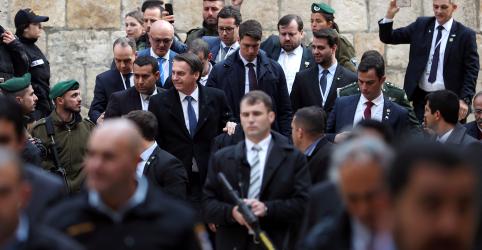 Placeholder - loading - Imagem da notícia Palestinos não queriam que viagem de Bolsonaro tocasse no tema de Jerusalém, diz embaixador