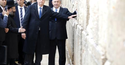 Placeholder - loading - Imagem da notícia Em Israel, Bolsonaro defende respeito à autonomia do Brasil e diz que é direito dos palestinos reclamar