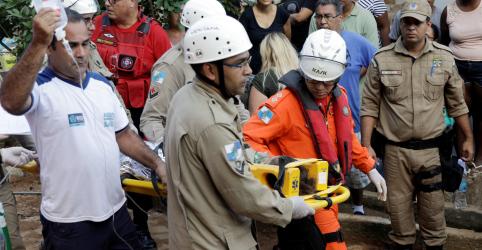 Placeholder - loading - Sobe para 7 o número de mortos confirmados em desabamento de prédios no Rio