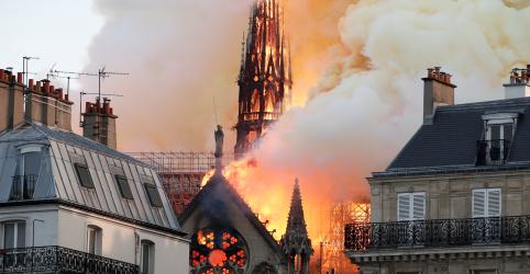 Incêndio atinge Catedral de Notre-Dame, em Paris