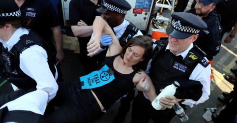 Polícia britânica já prendeu 750 ativistas ambientais