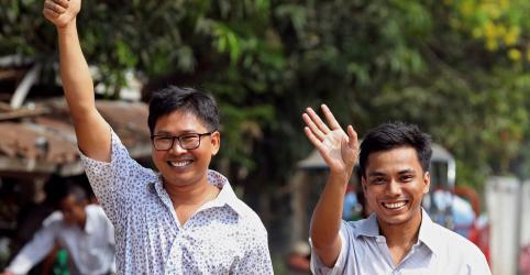 Placeholder - loading - Imagem da notícia Dois repórteres da Reuters são libertados em Mianmar após mais de 500 dias na prisão