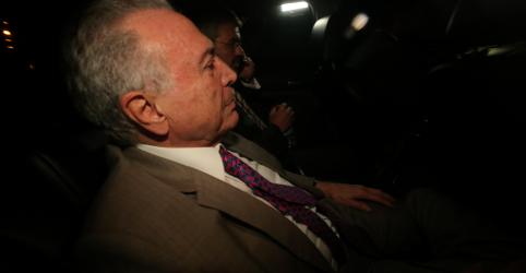 Placeholder - loading - Imagem da notícia Justiça determina volta de Temer à prisão, ex-presidente diz que se entrega na 5ª