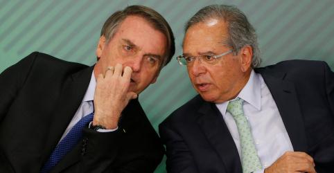 Placeholder - loading - Bolsonaro diz que casamento com Guedes segue mais forte do que nunca