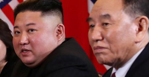 Placeholder - loading - Imagem da notícia Ex-representante da Coreia do Norte para assuntos nucleares é visto com Kim Jong Un, diz agência KCNA