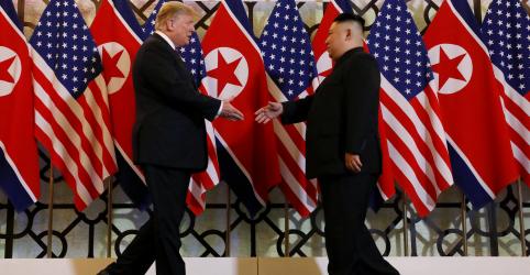 Placeholder - loading - Imagem da notícia Um ano após cúpula, Trump e Kim vivem impasse diplomático apesar de 'carta linda'