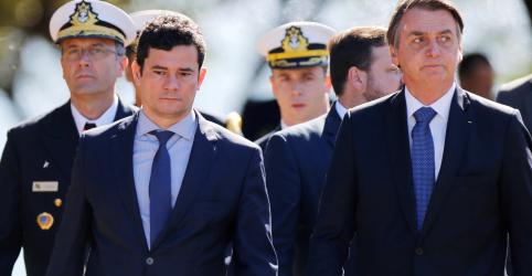É uma honra e uma satisfação ter Moro como ministro, diz Bolsonaro