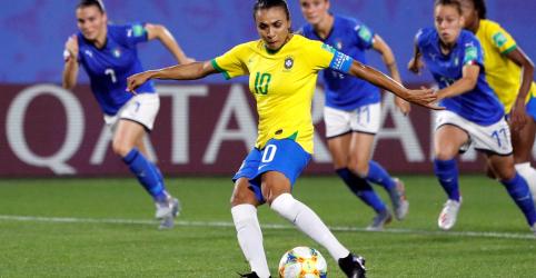 Placeholder - loading - Imagem da notícia Marta bate recorde de gols em Copas, Brasil vence Itália por 1 x 0 e se classifica