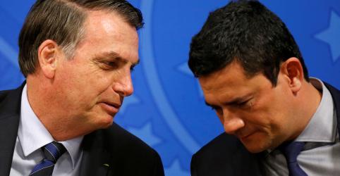 Placeholder - loading - Moro é 'patrimônio nacional' e saiu fortalecido de audiência no Senado, diz Bolsonaro