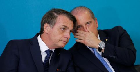 Placeholder - loading - Imagem da notícia Bolsonaro admite problemas em articulação política, mas diz que Onyx está fortalecido