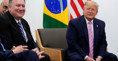 Placeholder - loading - Imagem da notícia Trump diz que visitará o Brasil, mas não fornece data