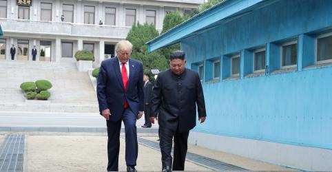 Placeholder - loading - Imagem da notícia Coreia do Norte vê encontro inesperado entre Trump e Kim como chance de avanço