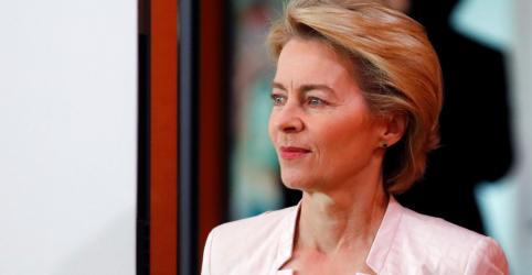 Placeholder - loading - Imagem da notícia Indicada a chefe do Executivo da UE, alemã Von der Leyen inicia campanha em busca de apoio