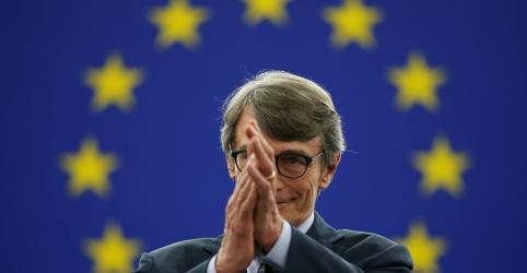 Placeholder - loading - Imagem da notícia Socialista italiano Sassoli é eleito presidente do Parlamento Europeu