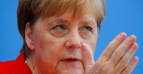 Placeholder - loading - Imagem da notícia Merkel diz que economia mais fraca dá motivos para tentar estímulos