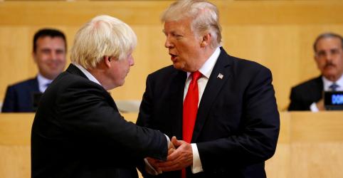 Placeholder - loading - Trump diz que novo primeiro-ministro britânico Johnson 'será ótimo'