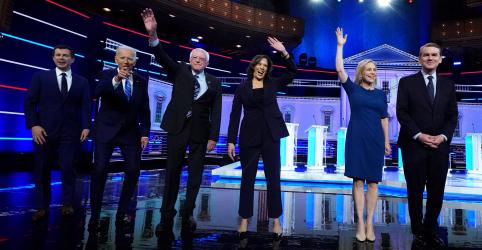 Placeholder - loading - Biden e Harris se enfrentam em 2ª rodada de debates de presidenciáveis democratas dos EUA
