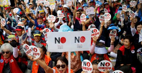 Placeholder - loading - Imagem da notícia Sul-coreanos inauguram memorial a 'mulheres de consolo' e renovam atrito com Japão