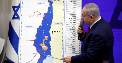 Placeholder - loading - Imagem da notícia Netanyahu anuncia plano para anexar parte da Cisjordânia se vencer eleição