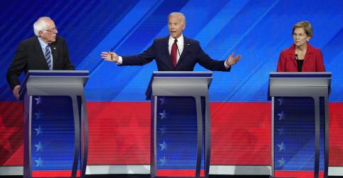 Biden ataca Warren e Sanders por custos de sistemas de saúde em debate presidencial democrata