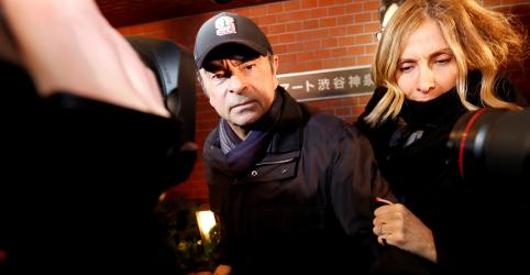 Placeholder - loading - Imagem da notícia Japão pede prisão da esposa de Ghosn e estuda como levar executivo de volta ao país