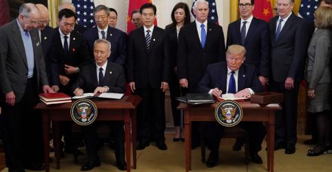 Placeholder - loading - China vai aumentar em US$76,7 bi compras de produtos dos EUA no 1º ano do acordo comercial