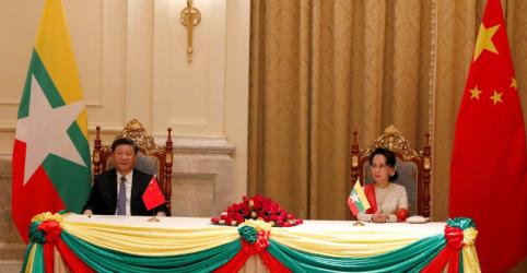 Mianmar e China assinam acordos para acelerar projetos de infraestrutura