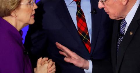 Warren e Sanders tentam superar discórdia em campanha democrata