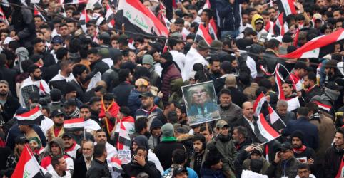 Iraquianos protestam para exigir retirada militar dos EUA