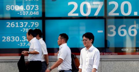 Índice japonês Nikkei tem mínima de fechamento de 3 semanas com vendas por temores sobre vírus