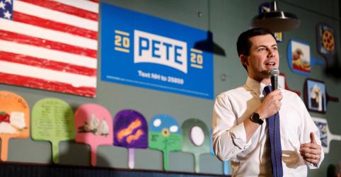 Placeholder - loading - Buttigieg lidera resultados iniciais do caótico caucus democrata de Iowa