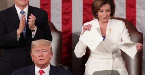 Placeholder - loading - Trump e Pelosi se hostilizam em noite do discurso do Estado da União