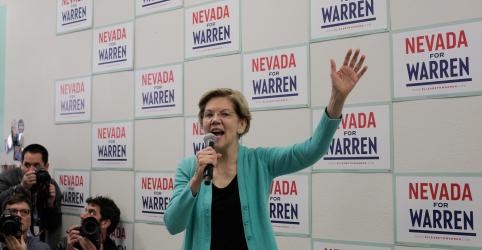 Warren faz empréstimo de US$3 mi por medo de ficar sem dinheiro para campanha nos EUA