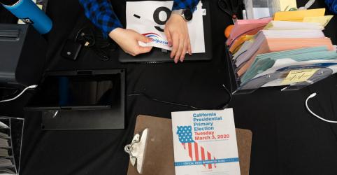 Placeholder - loading - Imagem da notícia SAIBA MAIS-Contagem de votos e delegados conquistados pelos democratas na Super Terça