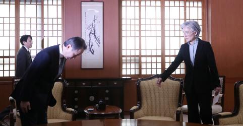 Placeholder - loading - Coreia do Sul convoca embaixador do Japão em protesto contra restrições de viagens por coronavírus